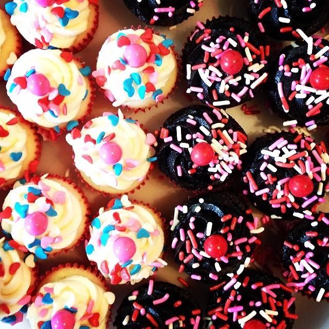 valentinesy mini cupcakes
