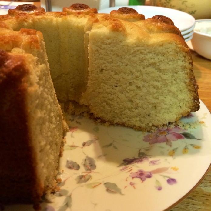 Cut Dairy-Free Pound Cake